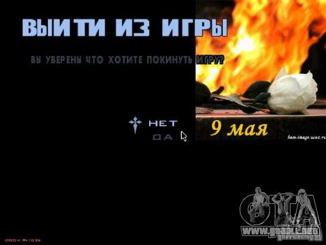Pantallas de carga 9 de mayo para GTA San Andreas séptima pantalla