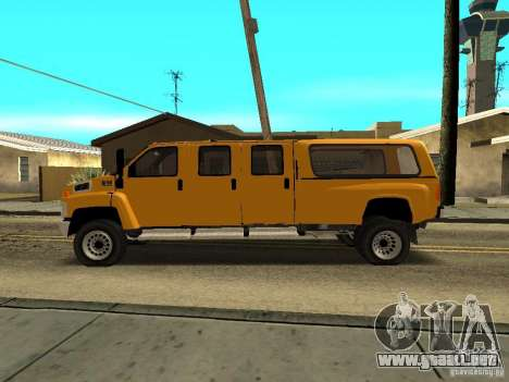 GMC TopKick para GTA San Andreas left