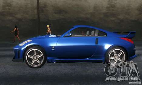 Nissan 350Z Varis para GTA San Andreas left