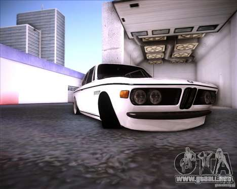 BMW 3.0 CSL Stunning 1971 para GTA San Andreas vista hacia atrás