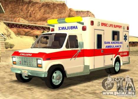 Ford Econoline Ambulance para GTA San Andreas