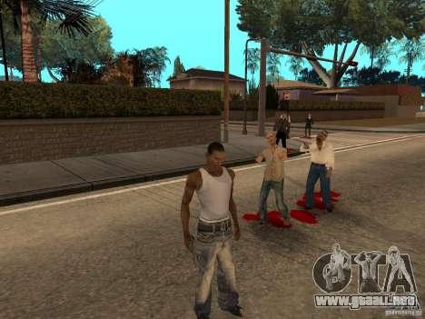 The Walking Dead para GTA San Andreas segunda pantalla