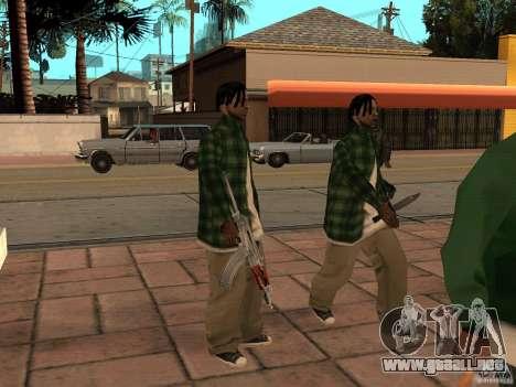 Pak versión doméstica armas 3 para GTA San Andreas sexta pantalla