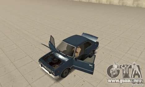 Toyota Corolla 1977 para GTA San Andreas vista hacia atrás