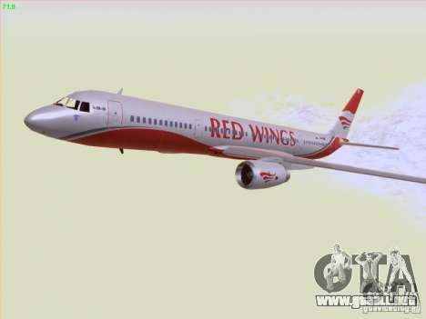 Tupolev Tu-204 Red Wings Airlines para la vista superior GTA San Andreas