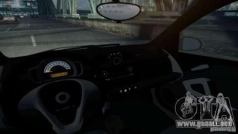 Smart ForTwo 2012 v1.0 para GTA 4 Vista posterior izquierda