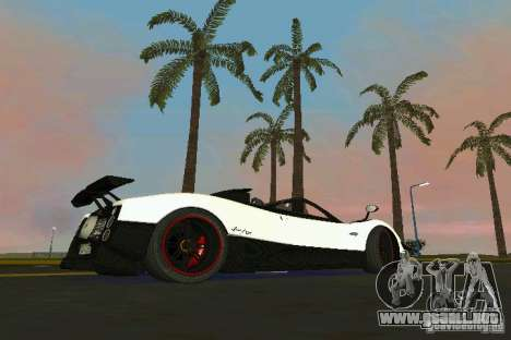 Pagani Zonda Cinque Roadster 2010 para GTA Vice City left