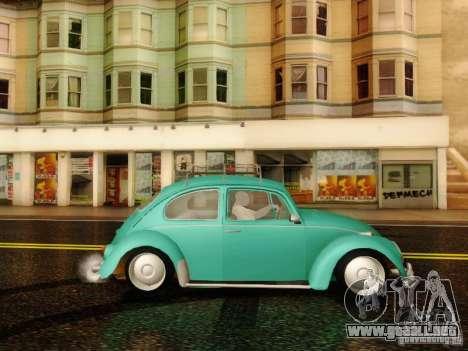 Volkswagen Beetle 1300 para GTA San Andreas vista posterior izquierda