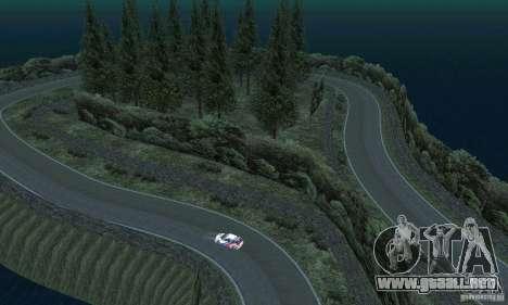 La ruta del rally para GTA San Andreas undécima de pantalla