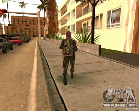 Dušmana piel de COD4 para GTA San Andreas tercera pantalla