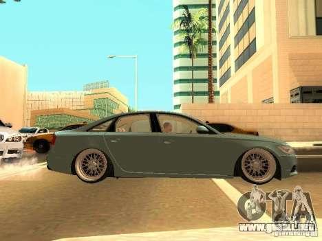 Audi A6 Stanced para GTA San Andreas vista hacia atrás