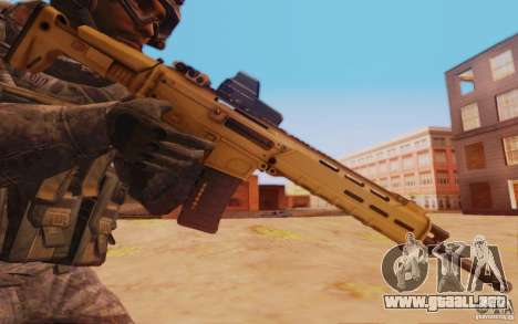 ACR con Mira holográfica para GTA San Andreas tercera pantalla