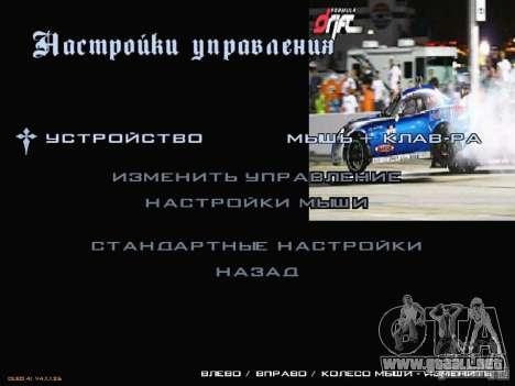 Fórmula menú estilo Drift para GTA San Andreas tercera pantalla