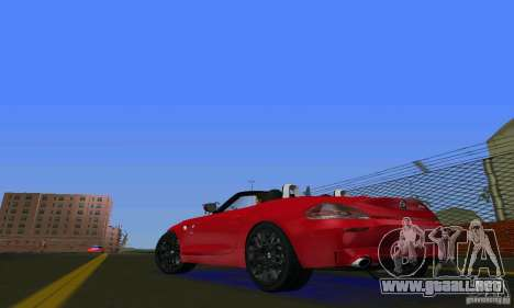 BMW Z4 V10 2011 para GTA Vice City vista lateral izquierdo