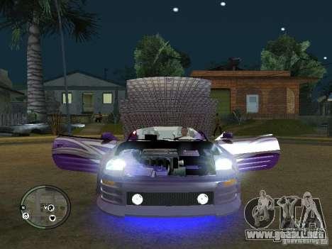 Mitsubishi Spyder 2Fast2Furious Cabriolet para GTA San Andreas vista hacia atrás