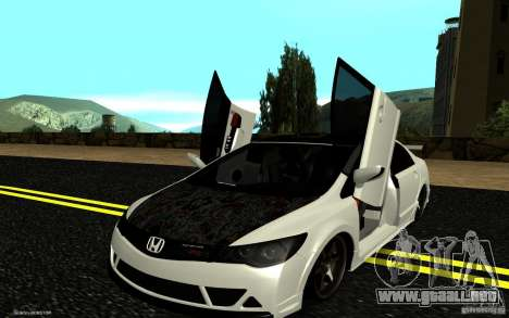 Honda Civic Type R para la vista superior GTA San Andreas