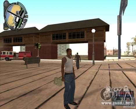 S.T.A.L.K.E.R. Call of Pripyat HUD for SA v1.0 para GTA San Andreas sucesivamente de pantalla