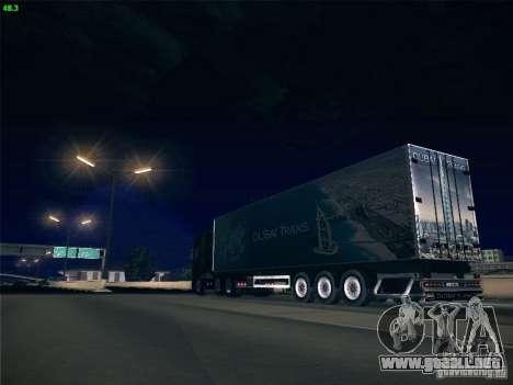 Remolque para el transporte del Scania R620 Duba para la vista superior GTA San Andreas