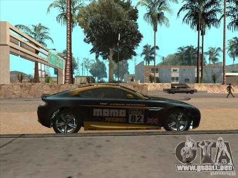 Aston Martin v8 Vantage n400 para visión interna GTA San Andreas