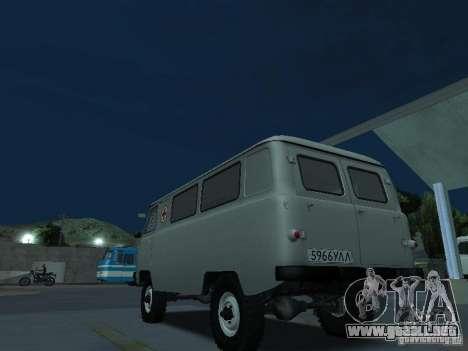 UAZ 451A para GTA San Andreas vista posterior izquierda