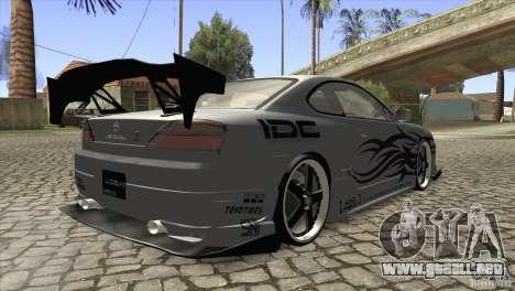 Nissan Silvia S15 Logan para la visión correcta GTA San Andreas
