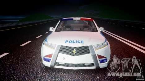 Carbon Motors E7 Concept Interceptor NYPD [ELS] para GTA 4 vista desde abajo