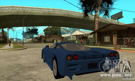 Saleen S7 v1.0 para GTA San Andreas vista posterior izquierda