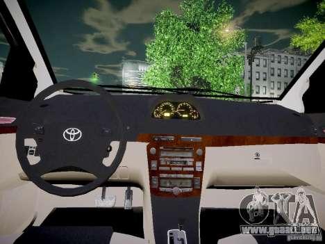 Toyota Vitz para GTA 4 vista hacia atrás