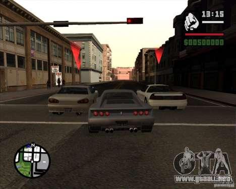 Great Theft Car V1.0 para GTA San Andreas sucesivamente de pantalla