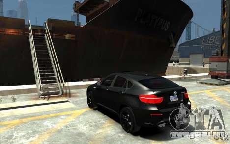 BMW X6 M para GTA 4 Vista posterior izquierda
