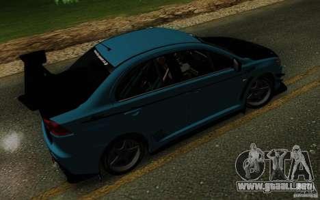 Mitsubishi Lancer Evolution X Tunable para la vista superior GTA San Andreas