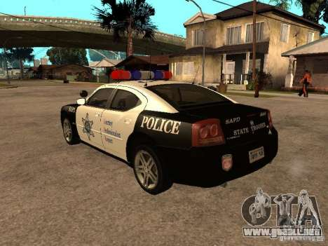 Dodge Charger RT Police para GTA San Andreas left