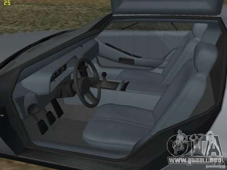 DeLorean DMC-12 para visión interna GTA San Andreas