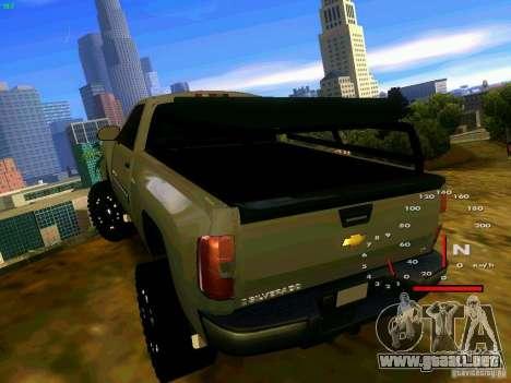 Chevrolet Silverado Final para GTA San Andreas vista posterior izquierda