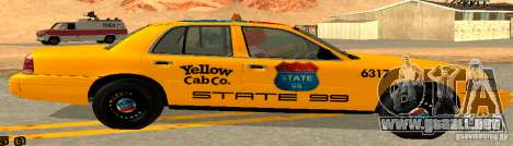 Ford Crown Victoria 2003 Taxi for state 99 para GTA San Andreas left