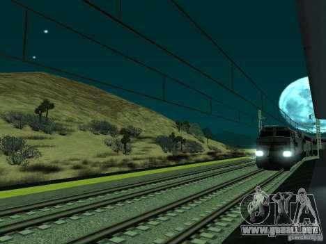 Línea ferroviaria de alta velocidad para GTA San Andreas sexta pantalla