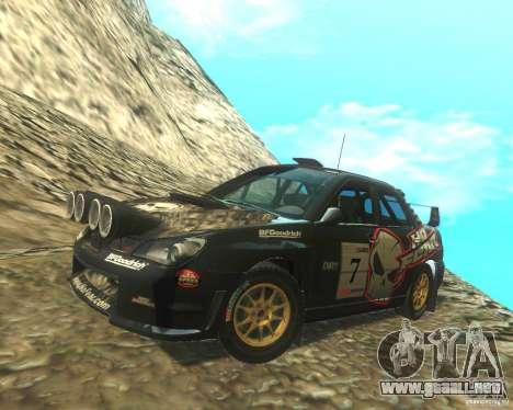 Subaru Impreza WRX STI DIRT 2 para vista lateral GTA San Andreas