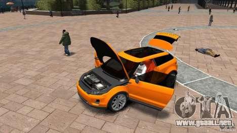 Range Rover LRX 2010 para GTA 4 vista hacia atrás