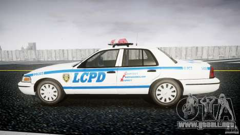 Ford Crown Victoria Police Department 2008 LCPD para GTA 4 left