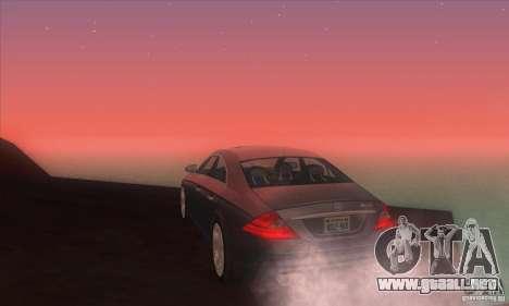 Mercedes-Benz CLS AMG para GTA San Andreas vista posterior izquierda