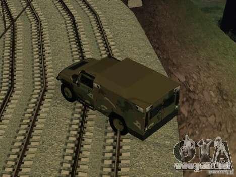 Hummer H2 Army para la visión correcta GTA San Andreas
