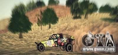 Buggy Monster energy para GTA San Andreas vista hacia atrás