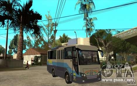 Hino Evo C para GTA San Andreas vista hacia atrás