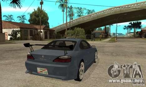 Nissan Silvia S15 Tun para la visión correcta GTA San Andreas