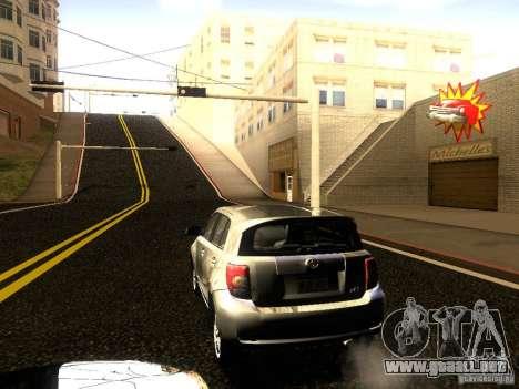 Scion xD para visión interna GTA San Andreas