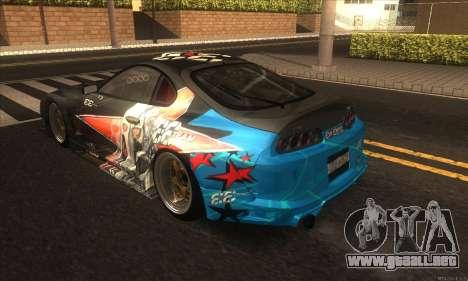 Toyota Supra Evil Empire para la visión correcta GTA San Andreas