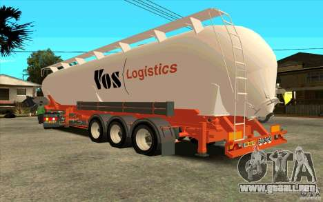 Mercedes-Benz Actros para vista lateral GTA San Andreas