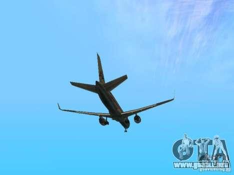 Boeing 757-200 American Airlines para vista lateral GTA San Andreas