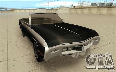 Buick Riviera GS 1969 para GTA San Andreas vista hacia atrás
