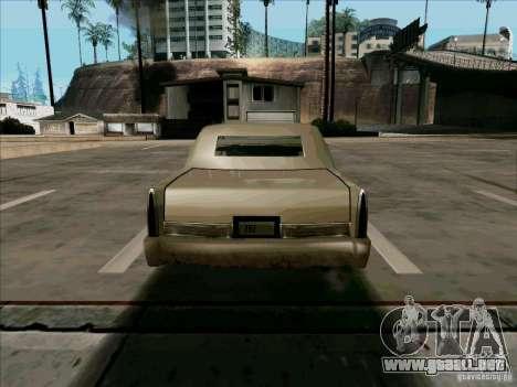 Una limusina corta para la visión correcta GTA San Andreas